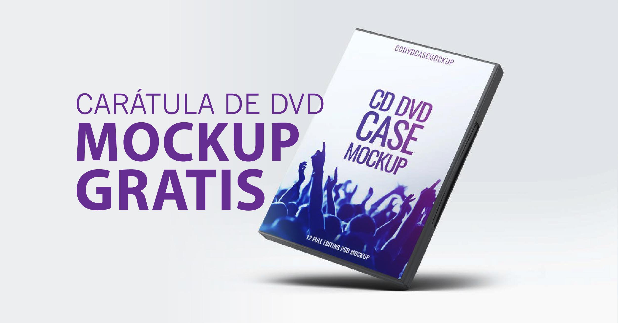 Carátula de DVD Mockup | Descarga GRATIS