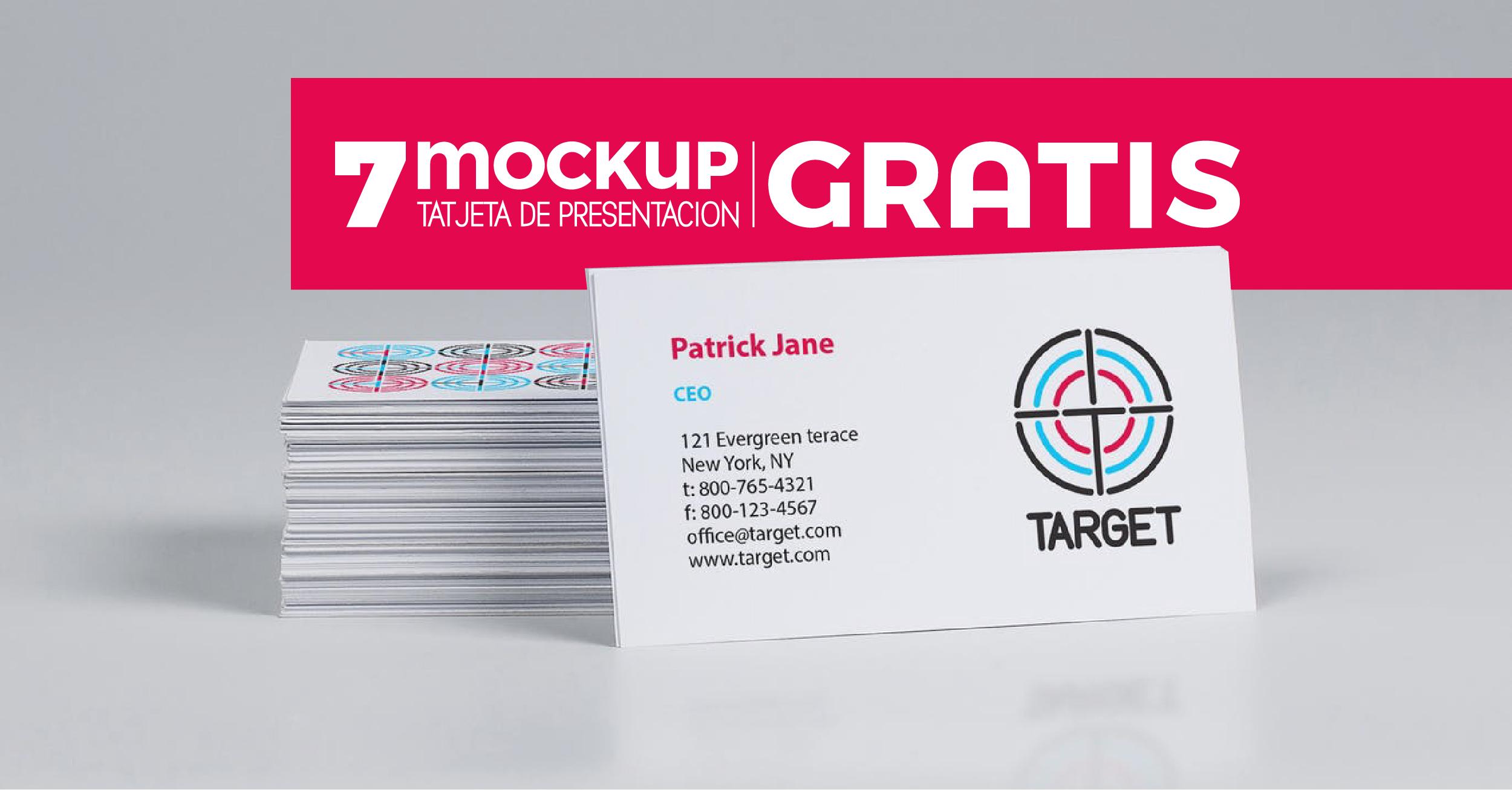 Mockups Tarjetas de Presentación - card mock uos - business card nockup free