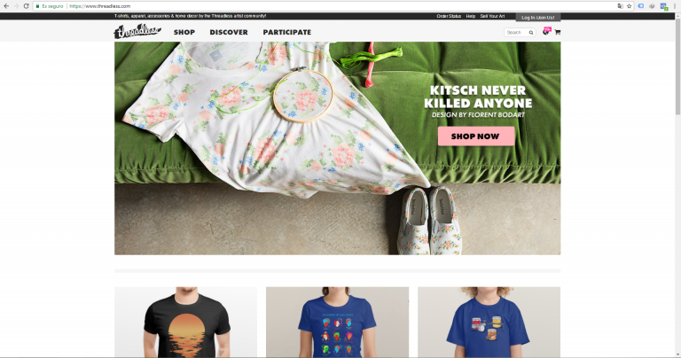 Threadless - website - ecommerce