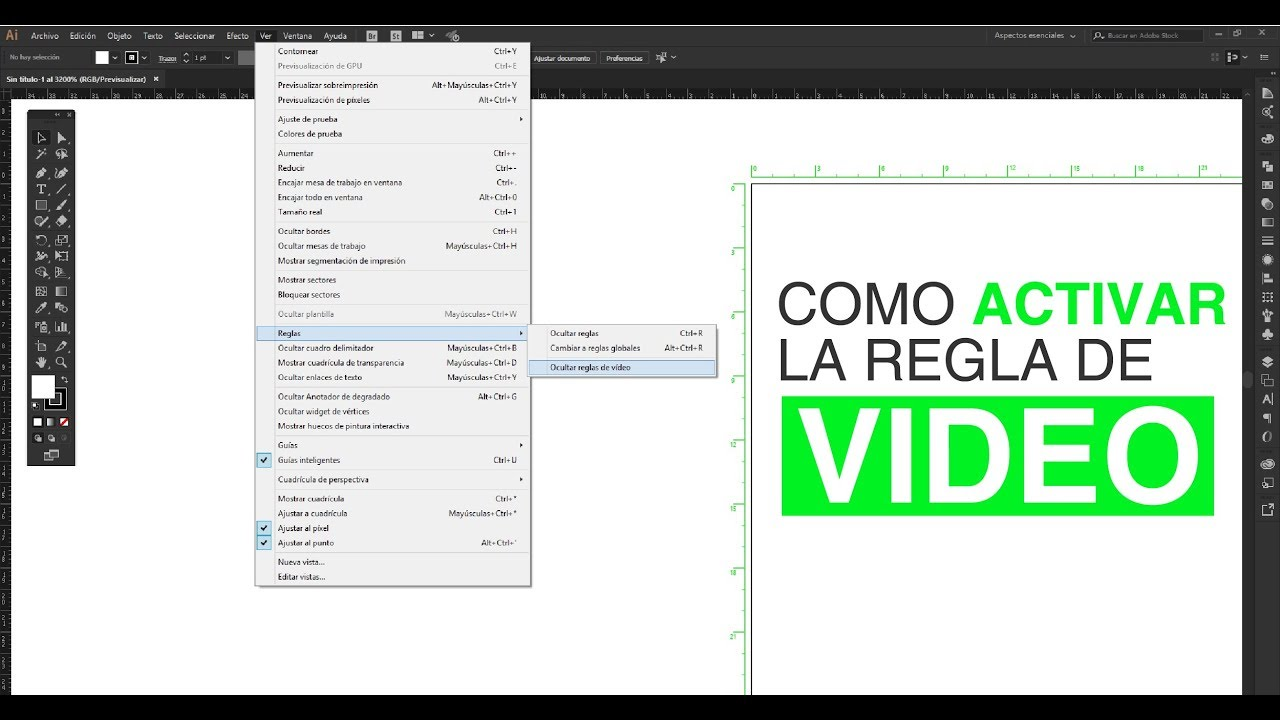 Regla de video de illustrator - tutorial - APA Diseño grafico