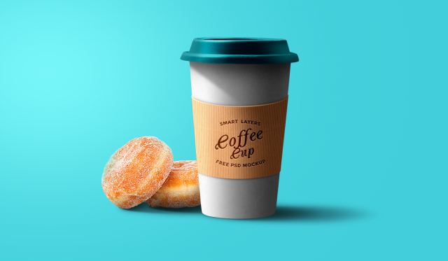 Paper Coffe Cup Mockup _ psd _ free download _ photoshop template