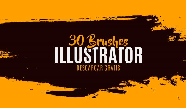 Pinceles para Illustrator Gratis - illustrator pinceles gratis - free brushes illustrators - como instalar los pinceles en illustrator cc cs6 - illustrator cc pinceles - pack pinceles illustrator gratis-
