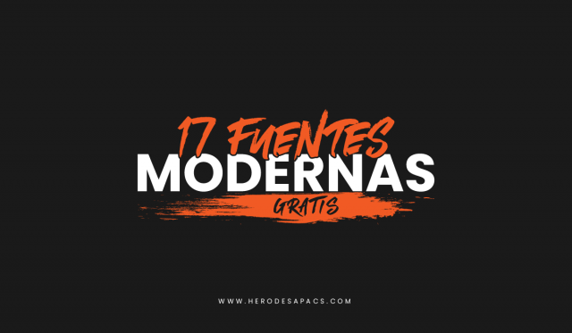 Fuentes modernas gratis - tipografias para uso gratuito