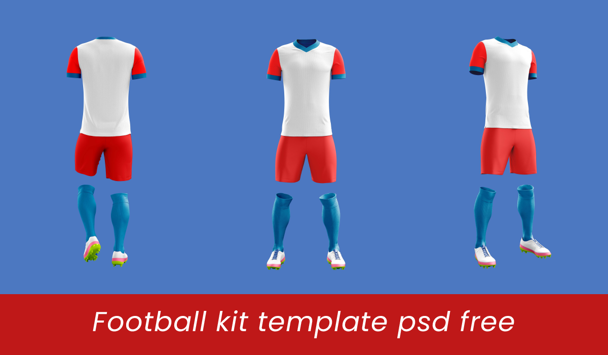Uniforme Football Kit Mockup T Shirt Polo Psd Gratis