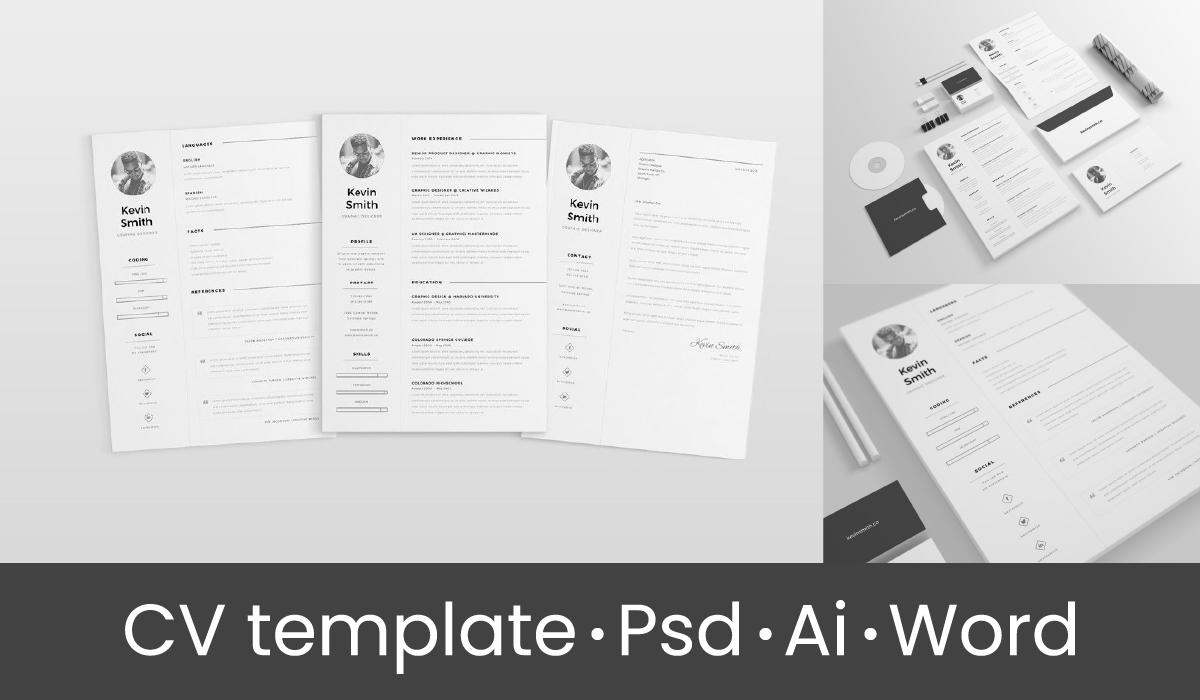 plantillas de CV en psd - cv ai - cv template word - resume psd - modernas plantilla de cv gratis - cv creativos psd para diseñadores