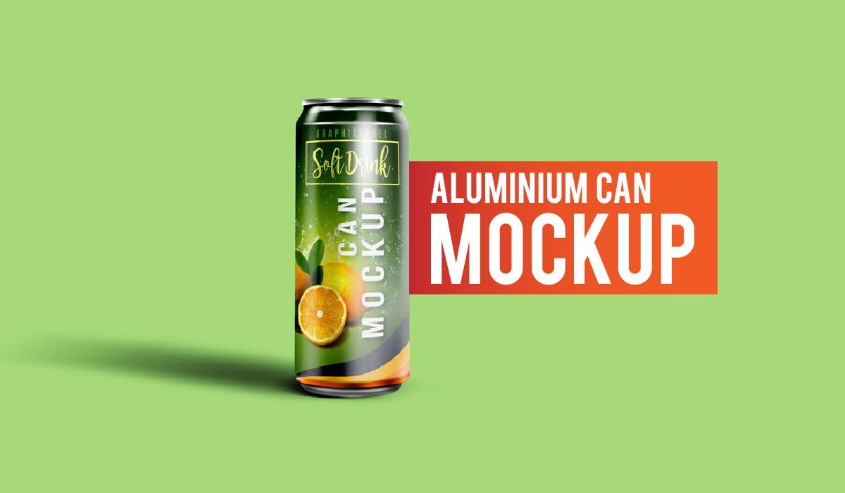 Aluminium can mockup - lata de soda - lata de refresco - mockup gratis - photoshop