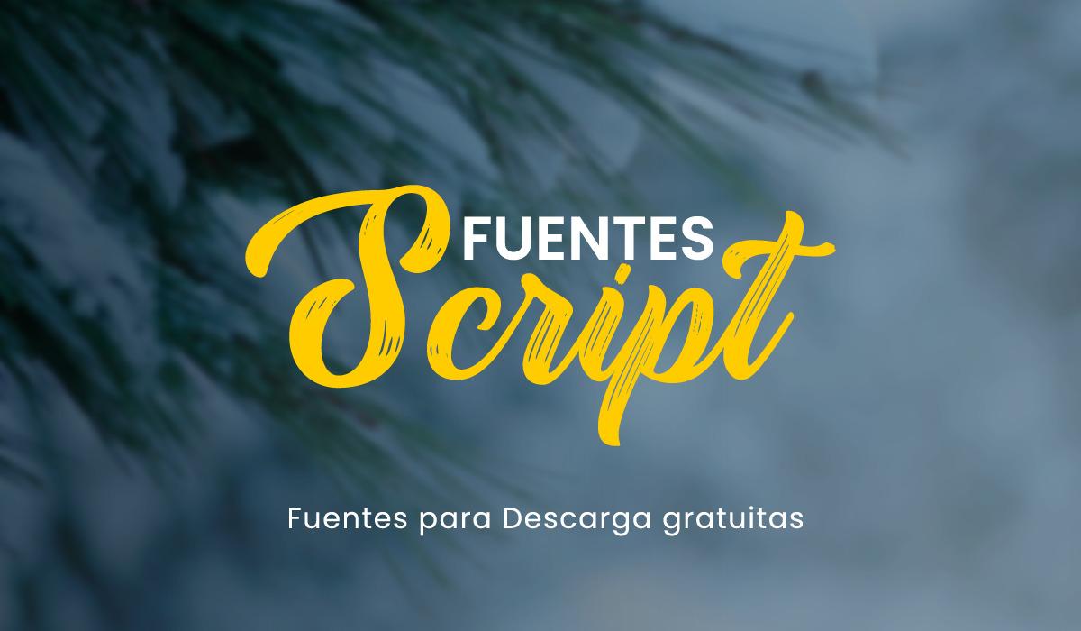 Descarga 17 Fuentes script gratis