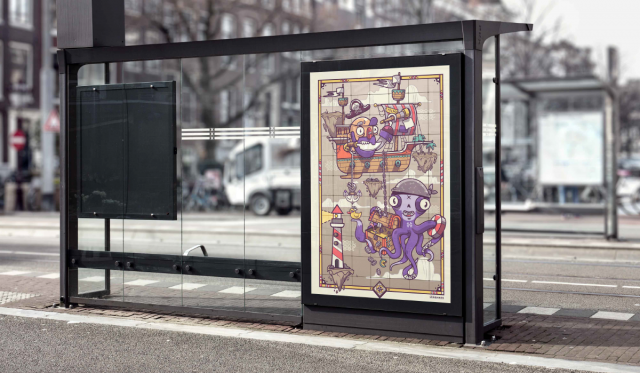 bus mockup - bus stop - mockup billboard - mockup gratis