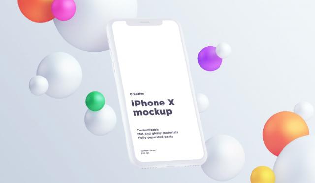 mockup - iPhone X mockup psd - apple - mobile phone mockup - iphone psd - screen mockup