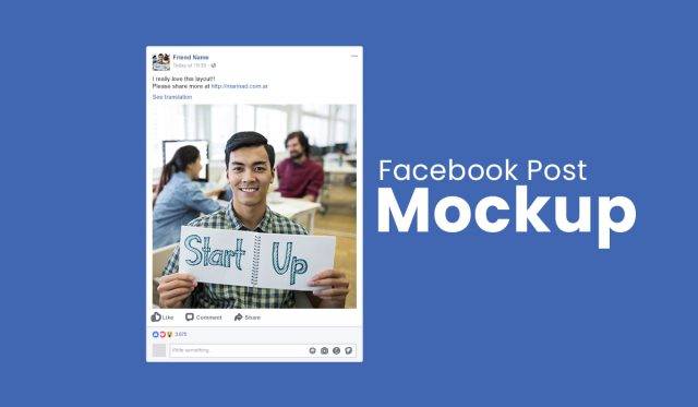 mockup facebook post template psd - social media mockup - facebook template psd - facebook post mockup
