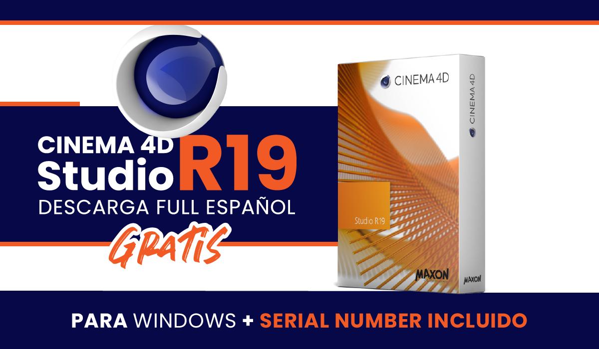 descarga maxon cinema 4d r19 full español - descarga gratis - windows - serial number - un link de descarga c4d