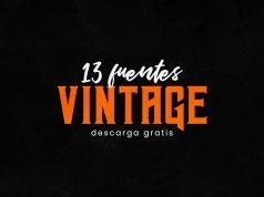 descarga set de fuentes vintage gratis - para uso libre