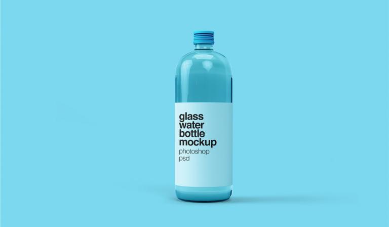 Photoshop plantilla de envase de vidrio en psd gratis