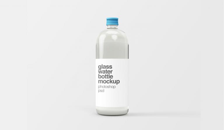 free mockup glass bottler