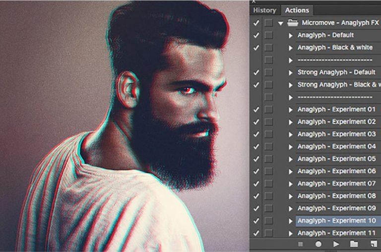 effecto gratuitos para photoshop - Anaglyph