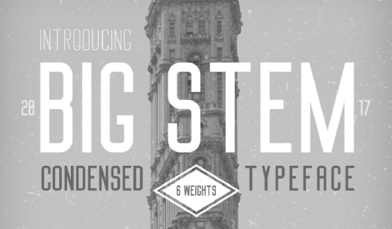 Big Stem - fuente para titulos y carteles - descargala gratis