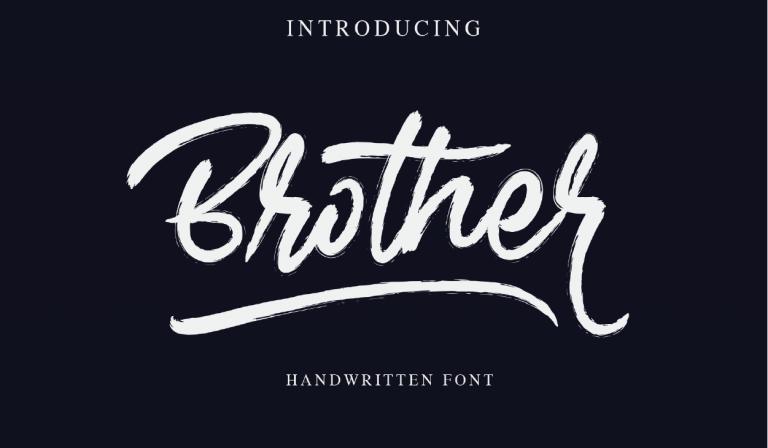 Descarga Brother - fuente brush script - gratis