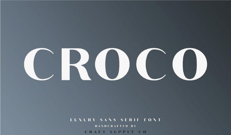 Croco - elegante - fuente - san serif - moderna - gratuita - descarga