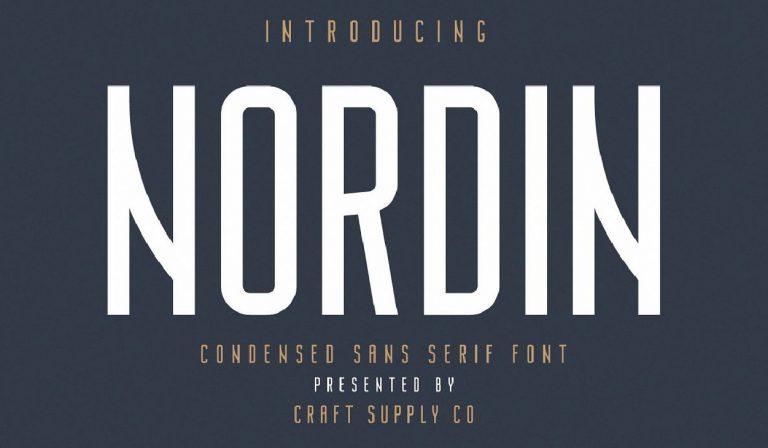 Descarga - fuente - Nordin - gratis - moderna - tipo - mayuscula