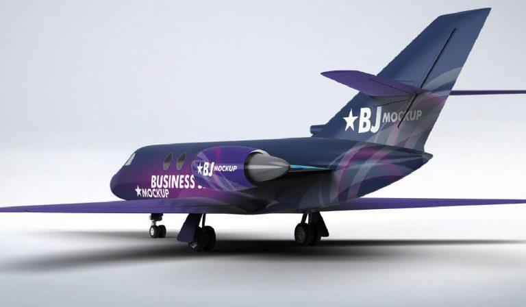 Descargar mockup de avion - espectacular - presentacion - identidad - corporativa - psd - gratis