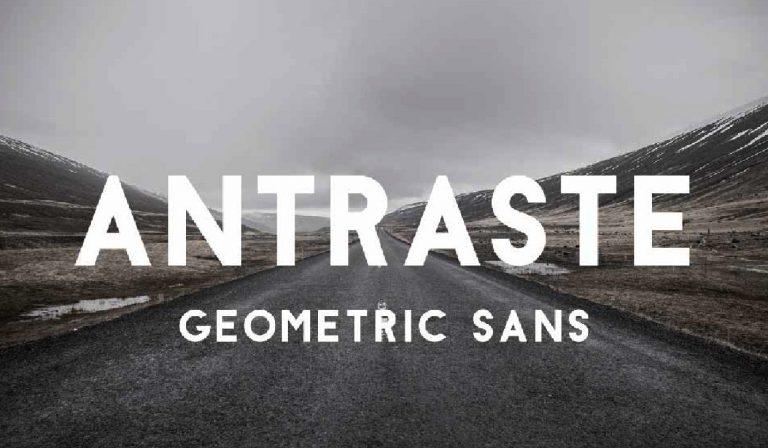 Fuente geometrica - Antraste - gratis - descargar