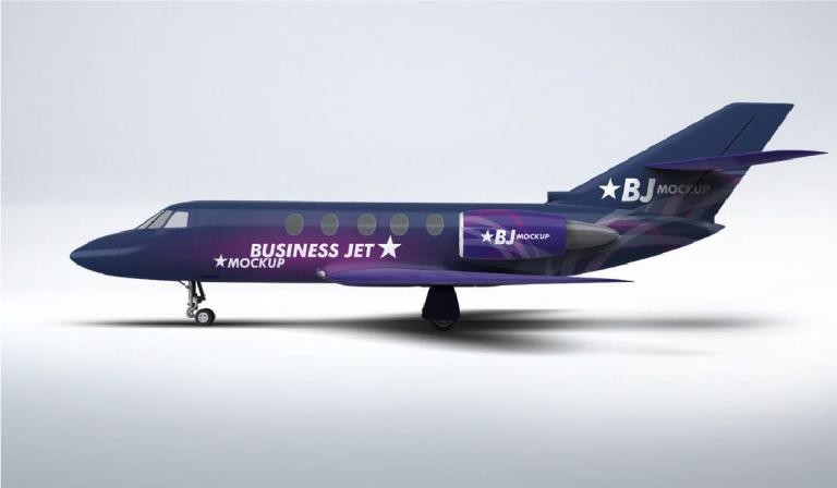 Mockup Jet comercial gratis - descargar psd