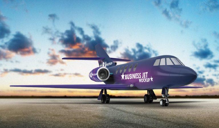 PSD Avion comercial - mock up - branding - gratis - descargar