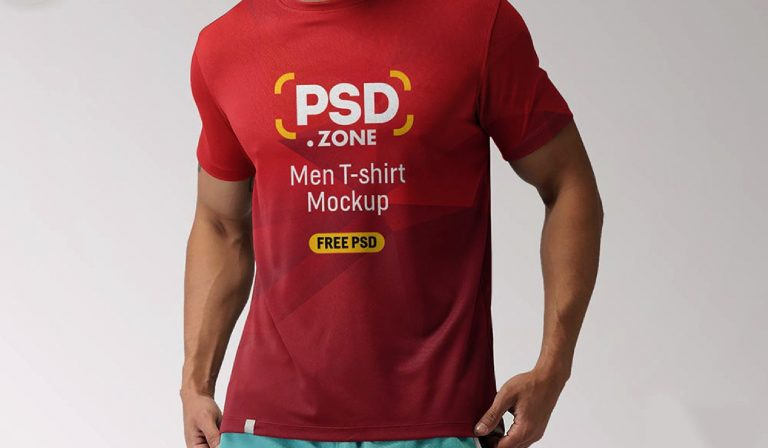 Psd - Men t shit - mockup - template gratis