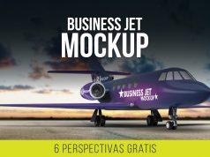 Realista mockup de avion comercial - airplane privado mockup - espectacular psd - descargar gratis