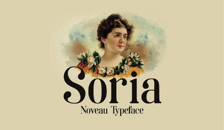 Soria - tipografia moderna - elegante - usada - popular - gratis