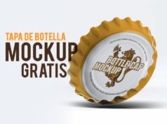 Coleccion de Tapas de botellas mock up - bottle cap - descargar plantilla de mockup - gratis