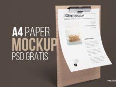 Descarga A4 Papel carta mockup - Plantilla psd - editable - para diseños - letter - factura - carta postal - gratis