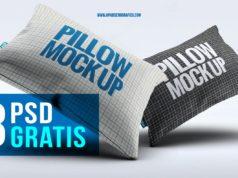 Descarga set de mockup para almohadas en psd gratis - realistas plantillas de cojines para editar en photoshop - pillow
