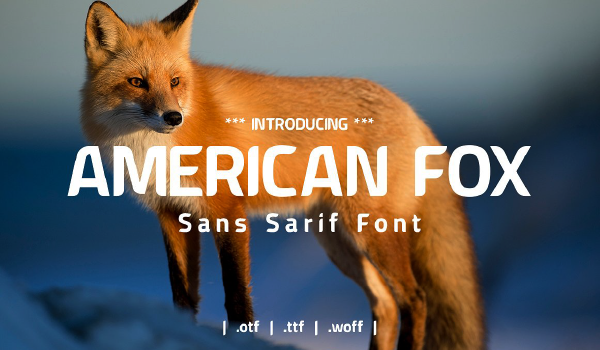 American Fox fuente moderna gratis - descarga