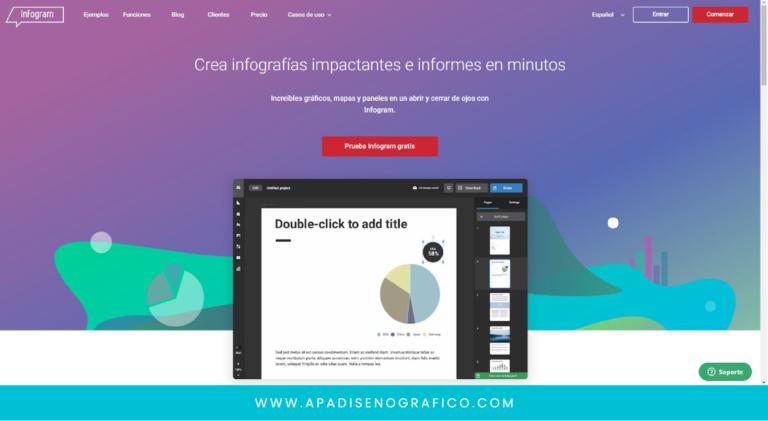 Infogram - el mejor software recomendado para diseñar y crear infografias - para uso gratis