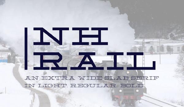 Descarga - NH Rail - fuente slab - moderna - para titulos - carteles - gratis