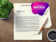 PSD Mockup para hojas membretes - carta - papel timbrado para presentar identidades - diseños corporativos - descargar - gratis