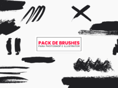 Pack de pinceles y brushes modernas - photoshop - illustrator - brochas - descargar gratis