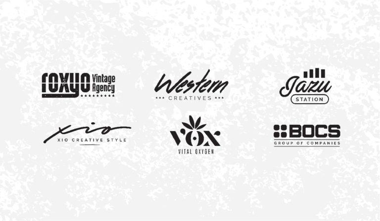 Plantillas logos y diseños vintage - logotipos retro - para uso libre - gratis - descargar pack