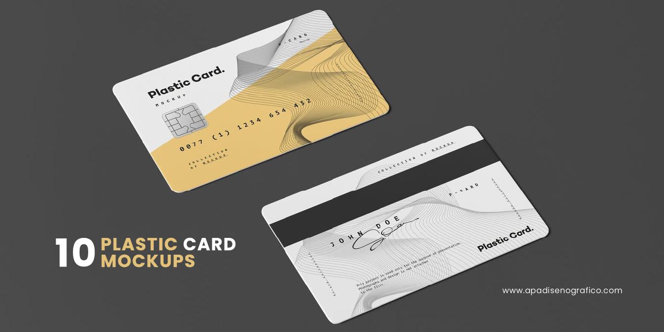 Mockup para tarjeta de credito - diseños - template - en psd - gratis