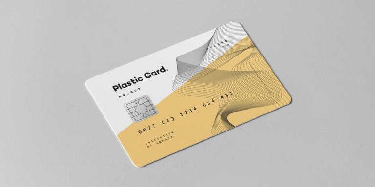 Mockup para tarjeta de credito en psd gratis