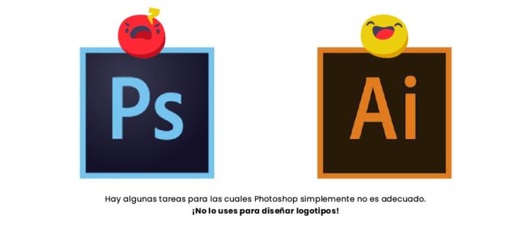 Photoshop vs Illustrator - por que un diseñador debe crear logos en Ai y no psd - 7 errores que todo creativo debe evitar