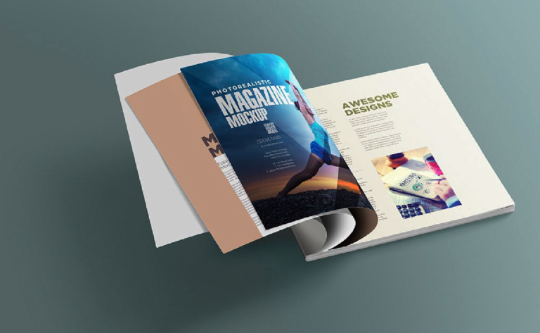Descarga revista magazine - 6 mockups gratuitos