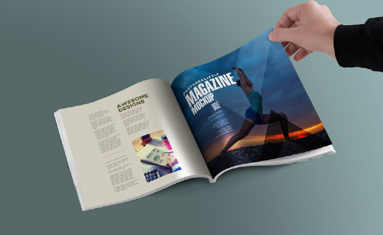 Magazine mock up - 6 perspectiva - gratis