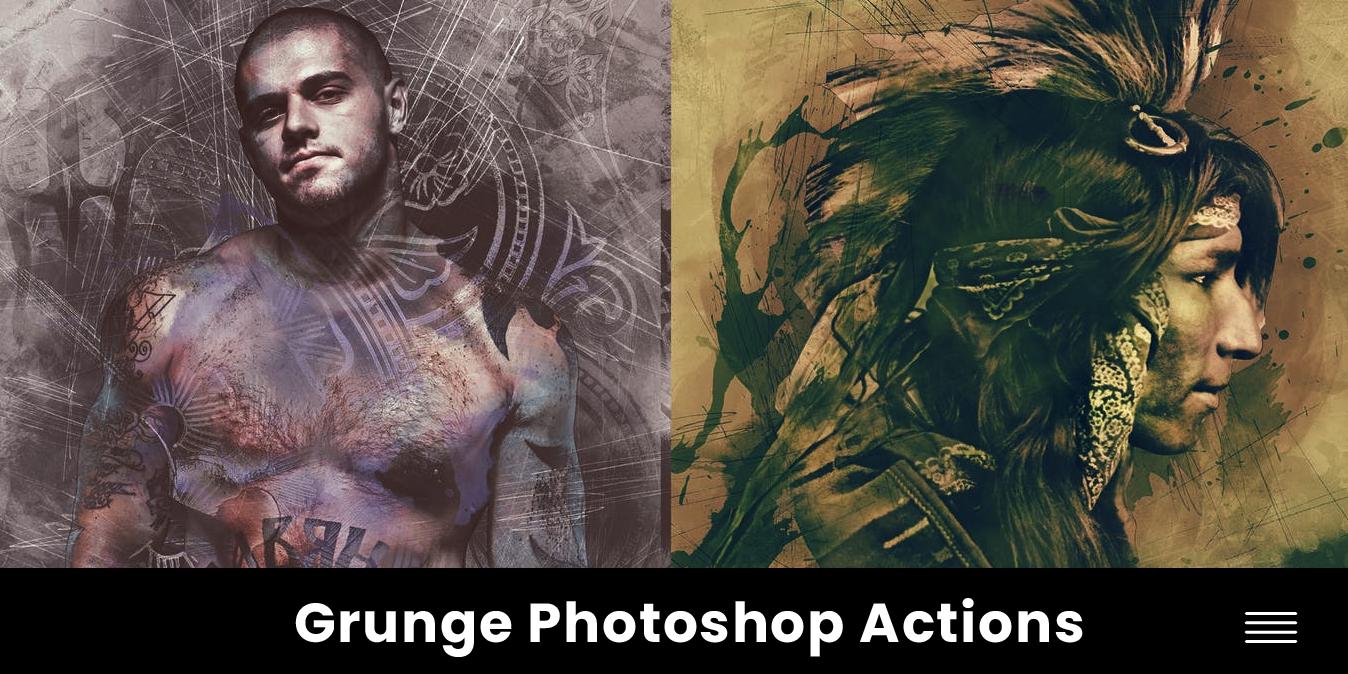 Photoshop action - efectos y filtros - estilos - texturas grunge - descargar gratis