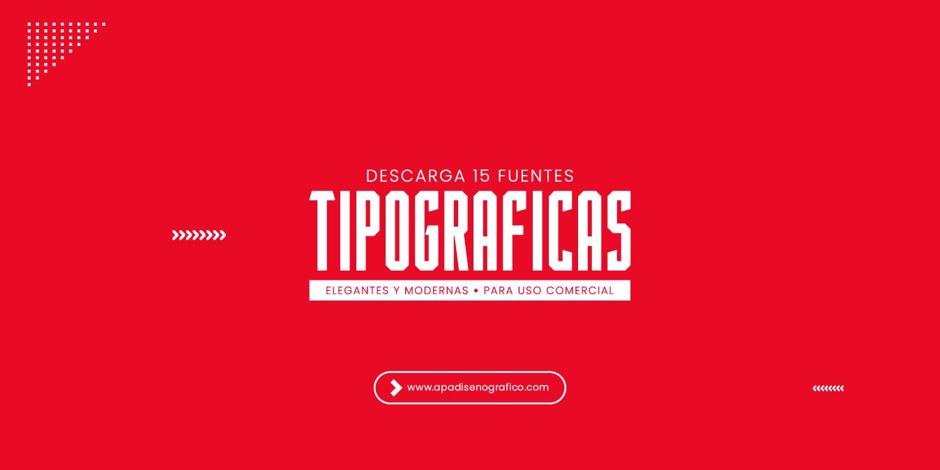 15 Fuentes tipograficas elegantes y modernas - para uso comercial - libre de uso - letras creativas - para diseñadores