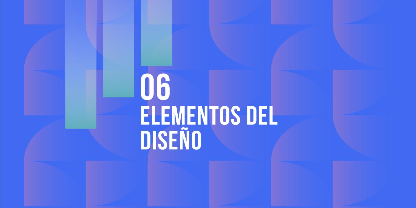 6 Elementos de diseño grafico - formas - lineas - tipografia - color - texturas - fotografias