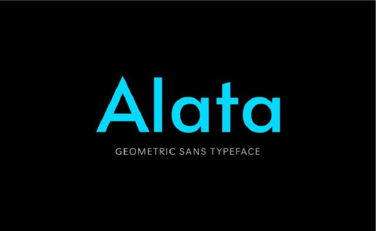 Alata - fuente geometrica - elegante - moderna - gratis - descargar