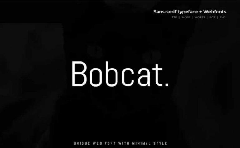 Bobcat - fuente san serif - para proyecto web - moderna - gratis
