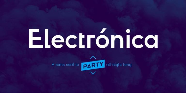 Electronica - fuente tipografica moderna - gratis